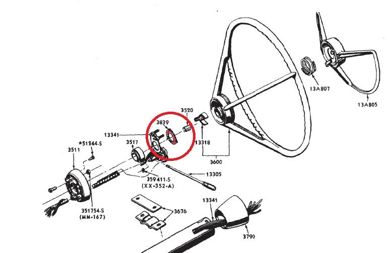 69 mustang dash wiring diagram 97 subaru impreza stereo 1965 1966 turn signal switch retainer, ne performance