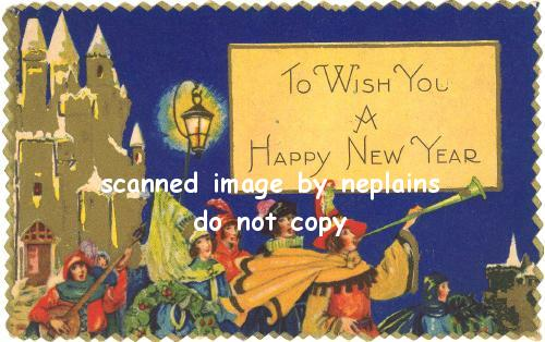 NEW YEAR To Wish You A Happy New Year Minstrels Celebrate