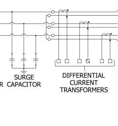 figure 3 three line diagram of msp equipped with differential current transformers and phase overcurrent transformers for connection to motor protection  [ 2230 x 975 Pixel ]