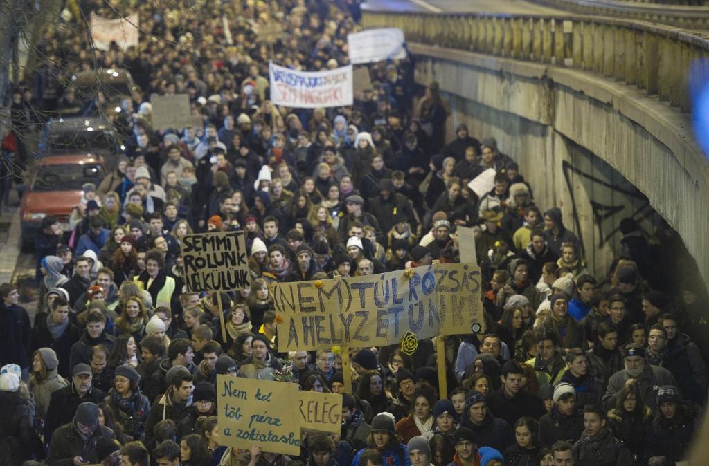 A tiltakozó hallgatók 1995 óta nem mutattak olyan aktivitást, mint 2012 utolsó heteiben FOTÓ: BIELIK ISTVÁN
