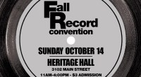 SundayOctober 14th, 2018is our semi-annual Record Convention. This time it will be held at Heritage Hall (3102 Main Street) Admission is $3 11am-4:00pm (No Early Bird!) If you would like […]