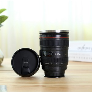 Creative Camera Lens Shaped Eco-Friendly Stainless Steel Thermo Mug