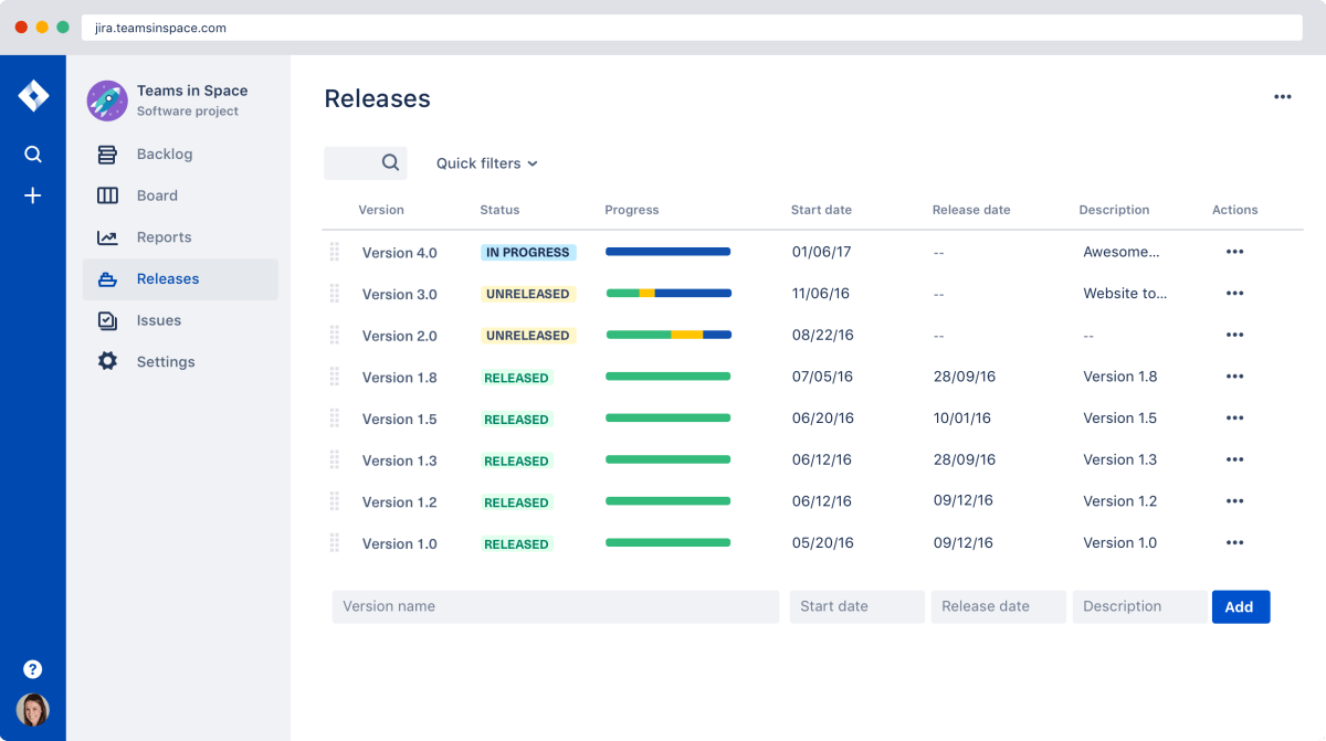 Jira - tracking ML projects