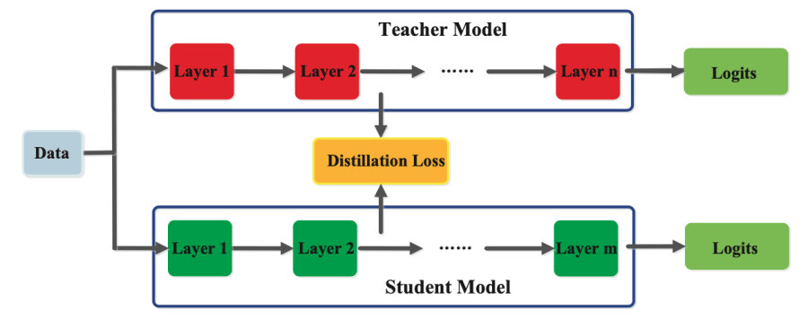 Feature-based knowledge distillation