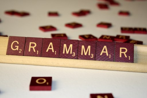 The image shows a word made from scrabble letters.