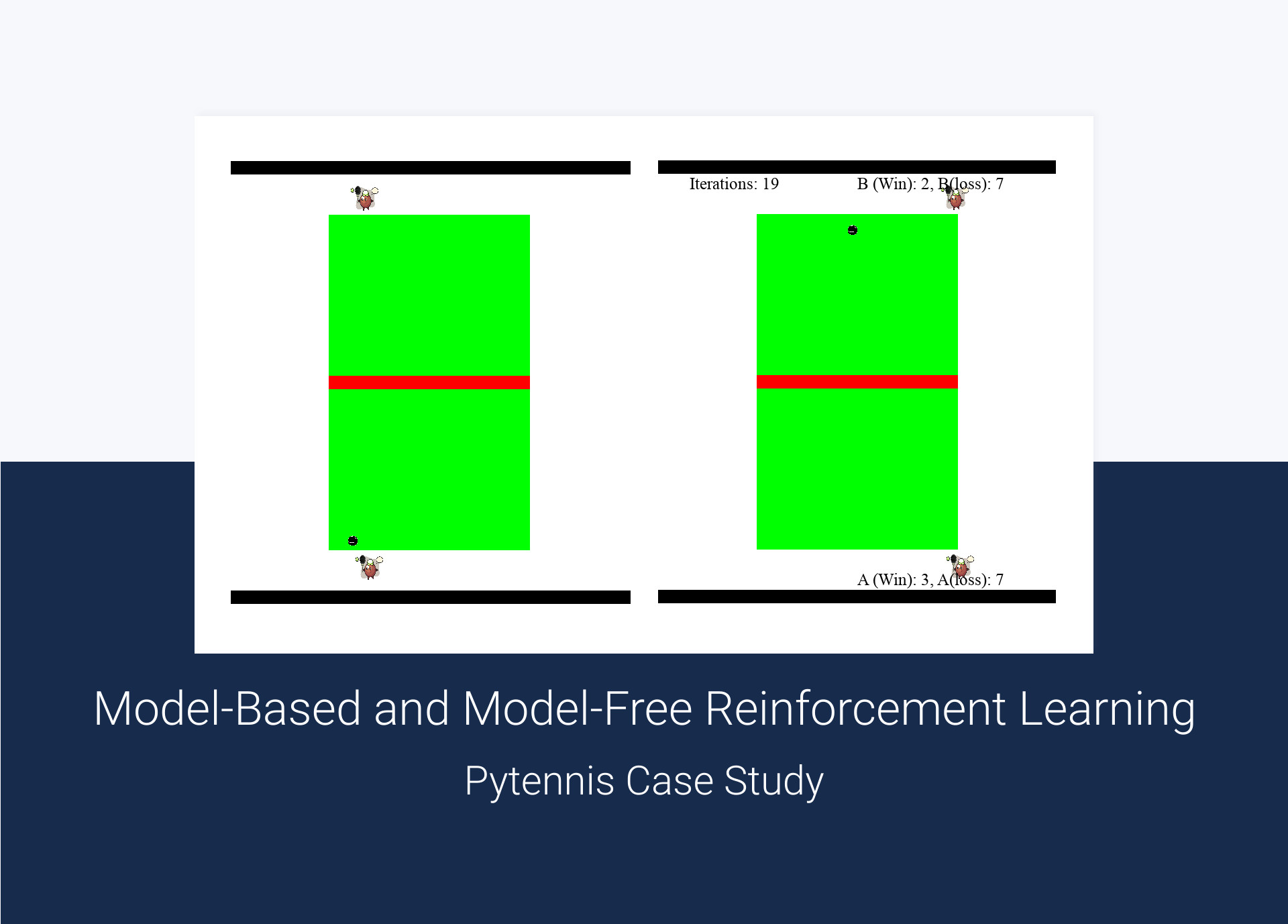Model-Based and Model-Free Reinforcement Learning – Pytennis Case Study