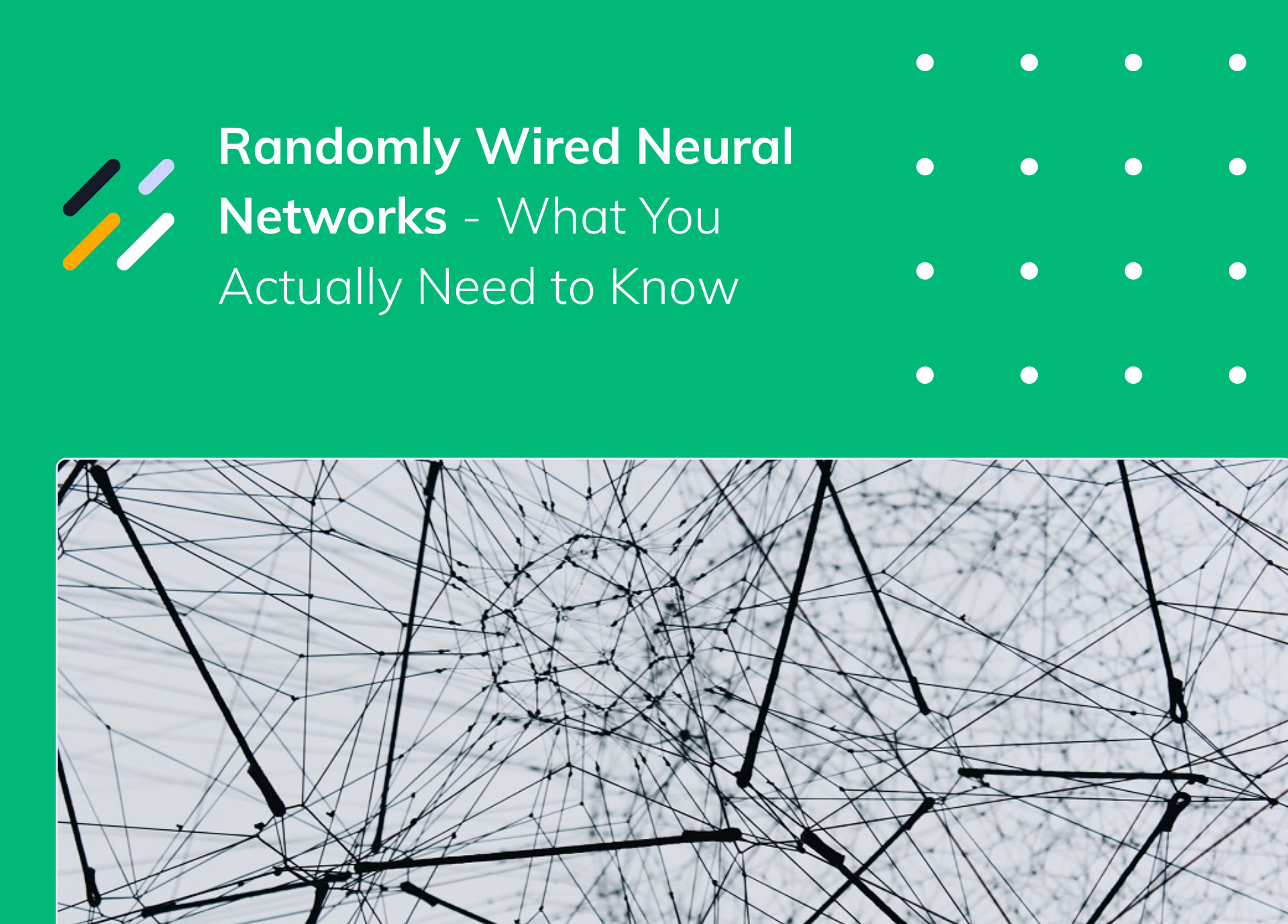 Randomly Wired Neural Networks – What You Actually Need to Know