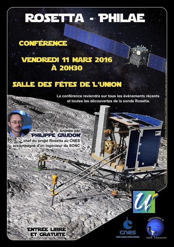 Affiche de la conférence Rosetta Philae