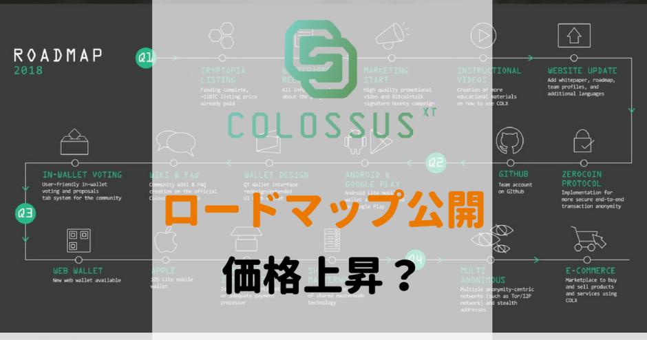 COLXロードマップ公開