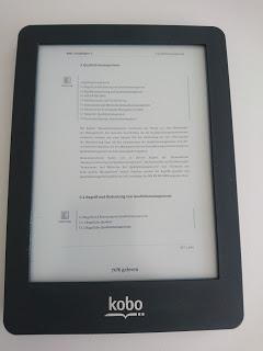 Kobo Glo – eRader Suche