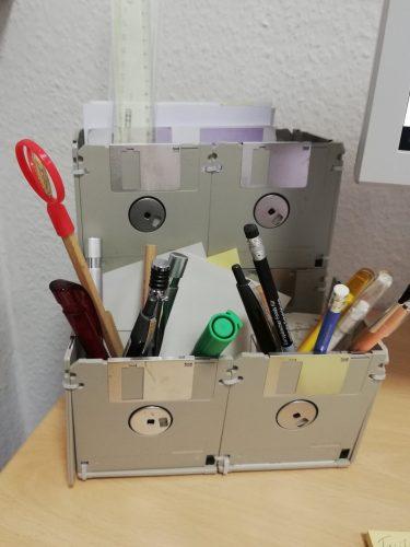 Disketten-Schreibtischaufbewahrung