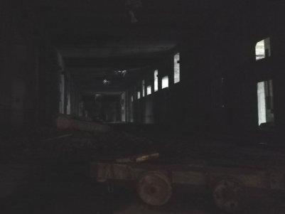 Eindruck von der größe des Bunkers, einsturzgefährdeter Teil