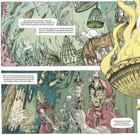 Die Schöne und die Biester, Splitter Verlag, Ausschnitt Seite 12