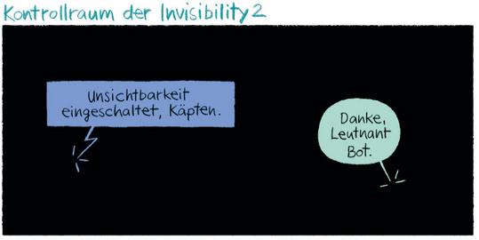 Das unsichtbare Raumschiff, Kibitz Verlag, Ausschnitt Seite 6