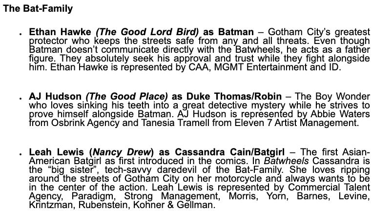 Bathweels Bat Family Cast