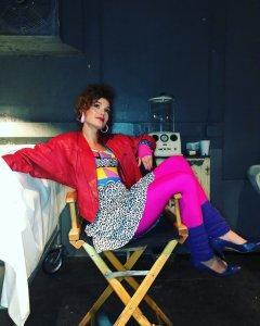 "Actress Hayley Sales on set of ""Supernatural"". Photo credit to Hayley"