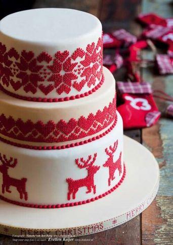 Wedding Christmas Cake 7