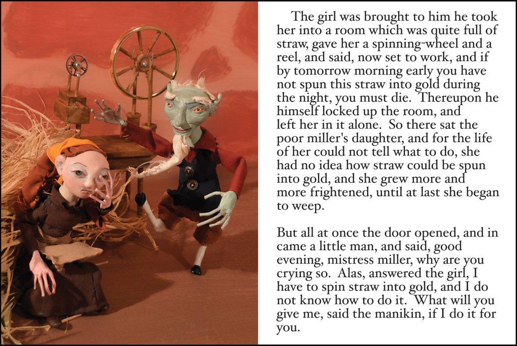 art doll, grimm's fairy tales, ooak, storybook