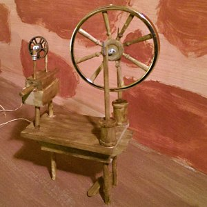SpinningWheel, spinning wheel, craft, dimensional illustration, dimensional illustrator, art doll, ooak, folk lore, folklore