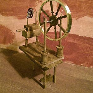 Nerd Craft | Making a Doll Furniture Spinning Wheel