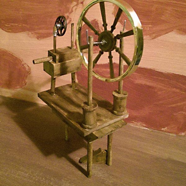 Nerd Craft   Making a Doll Furniture Spinning Wheel