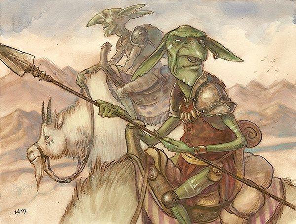goblin, mtg, rpg, fantasy, genre art, diterlizzi, D&D, Goblin-Caviliers-9_5x12_5
