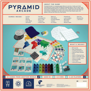 Board Games in Review – Pyramid Arcade, Looney Pyramids – Kickstarter