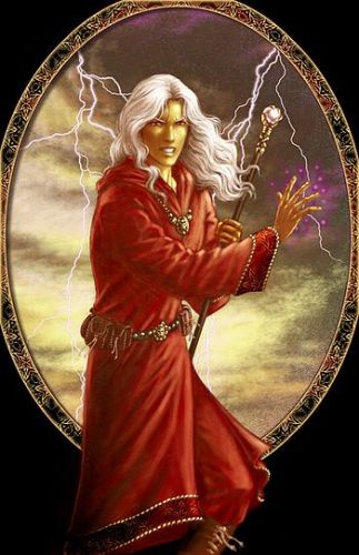 English: Raistlin in Red Robes. Image by Vera ...