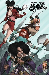 Like Scarlet Sisterhood, Rat Queens is about a party of female adventurers