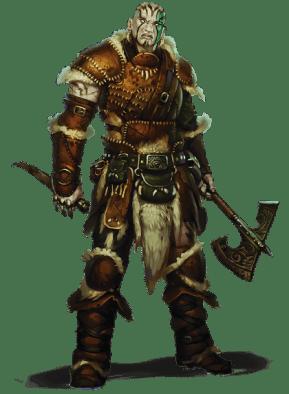 goliath paladin D&D character