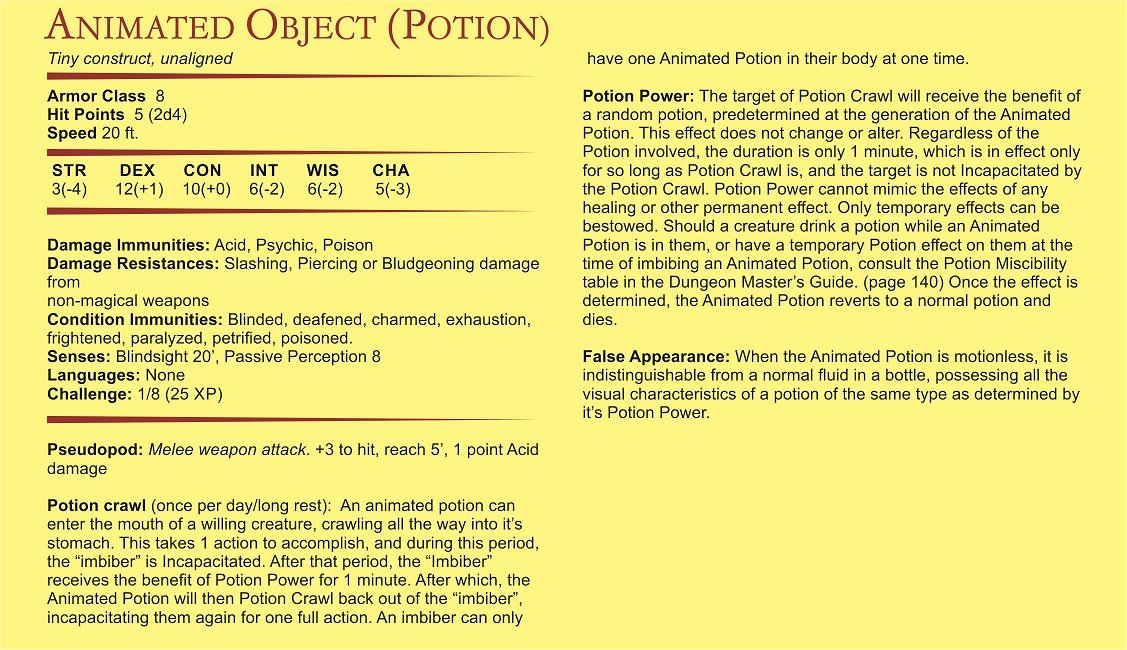 out of the box D&D potion