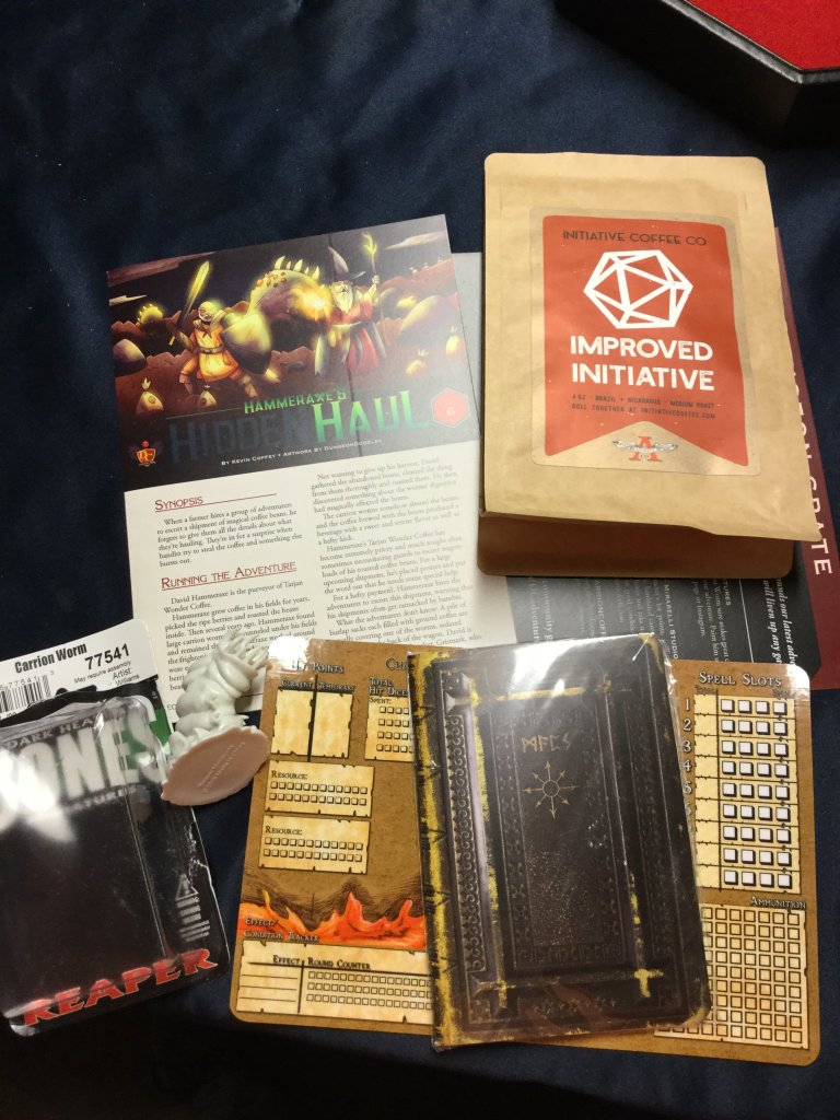 Dungeon Crate unboxing subscription