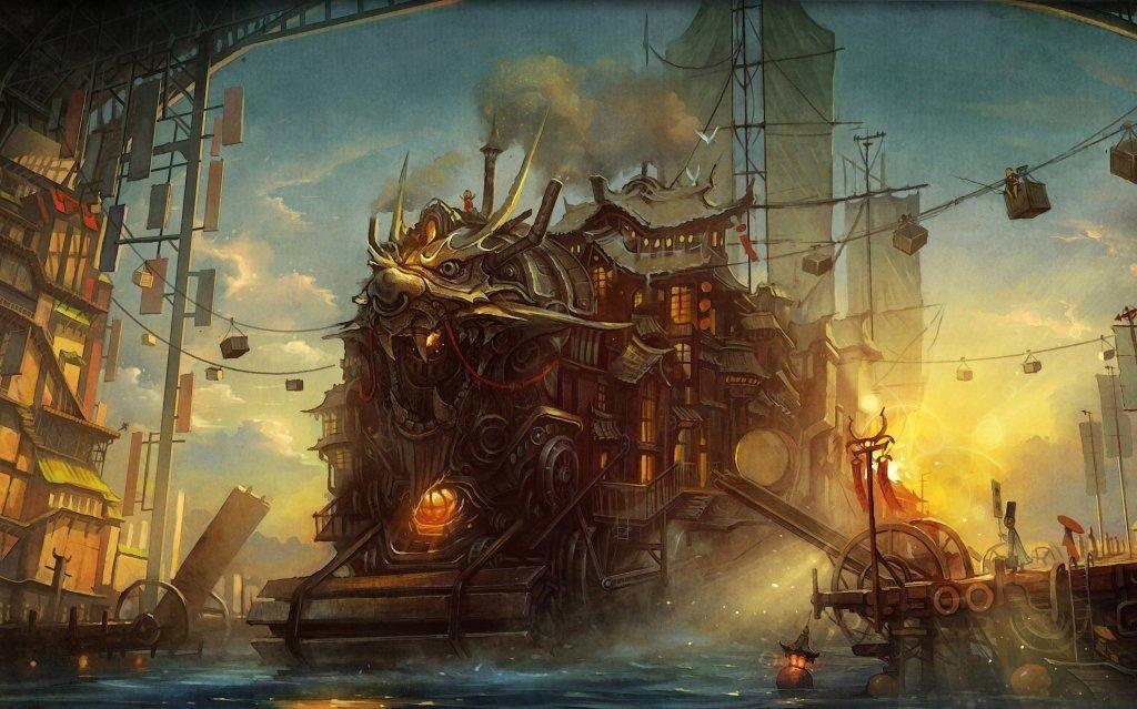 D&D steampunk fantasy setting