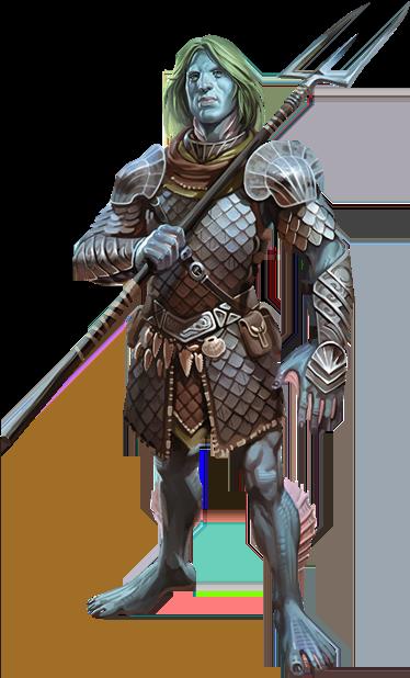 triton warlock D&D character
