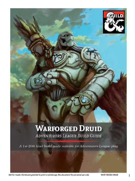 5E druid warforged