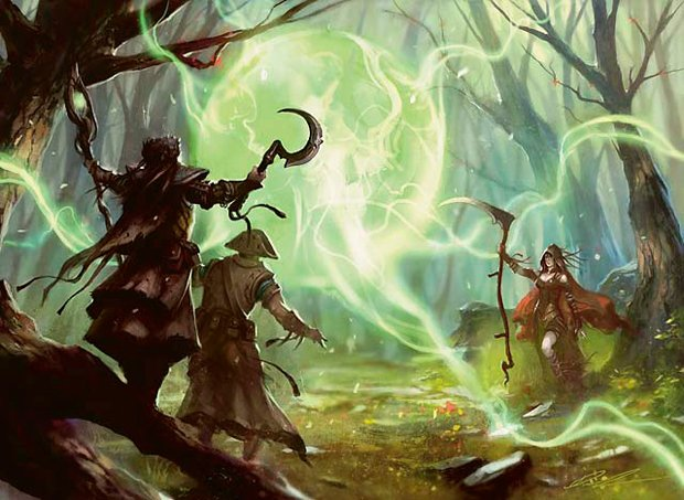 5E D&D druid spells magic druid's wave all druid party composition