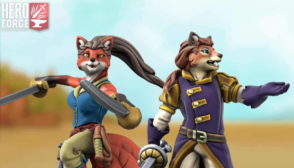 5E D&D Hero Forge foxfolk