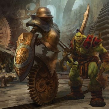 5E D&D orc mechanus worldbuilding