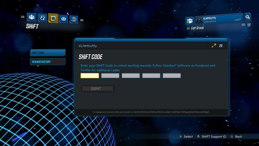 Shift Codes