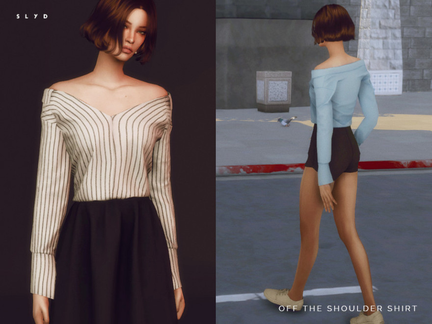 Off The Shoulder Shirt by SLYD