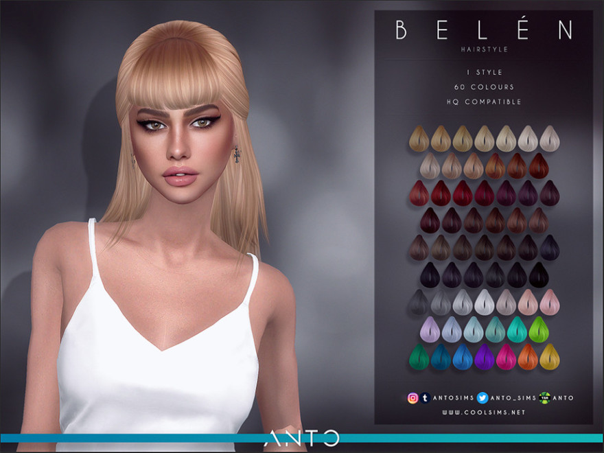 Belen Hairstyle Sims 4