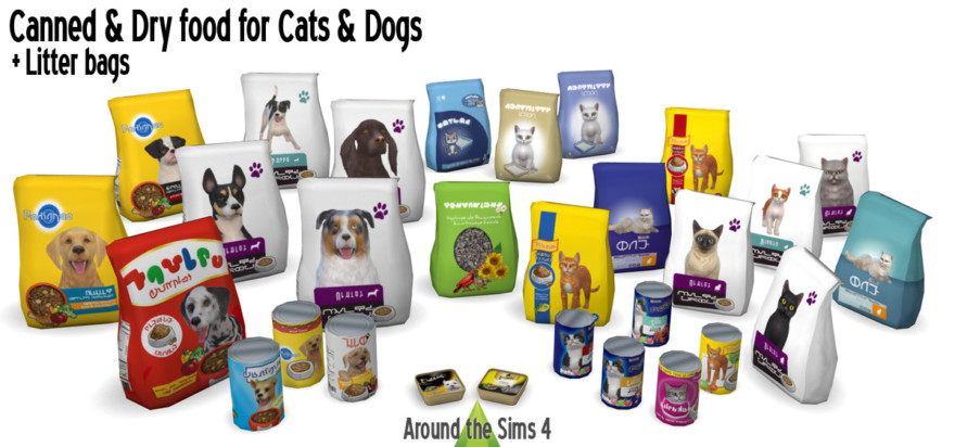 Canned & Dry Food For Cats And Dogs