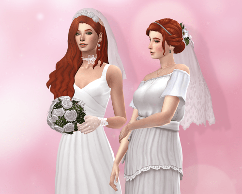Daisy & Rose Set Of Veils