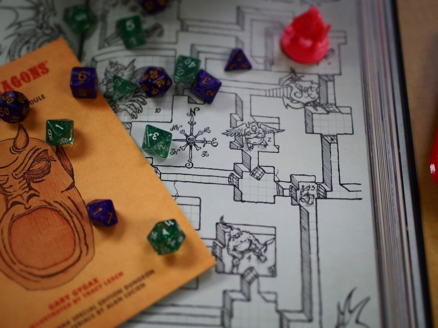 Dnd Dice And Map