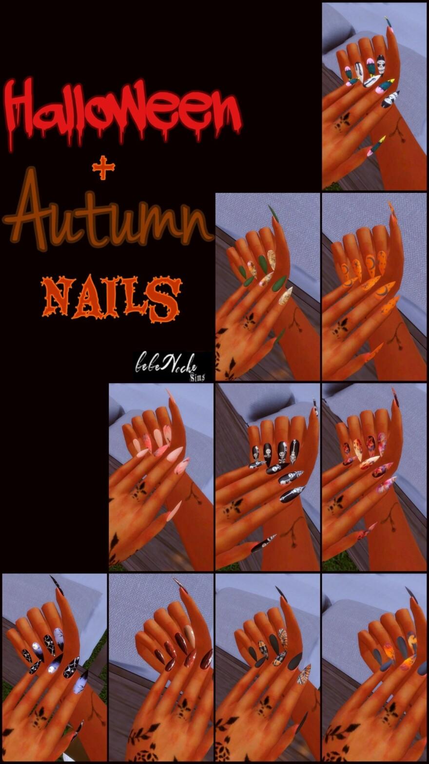 Halloween + Autumn Nails