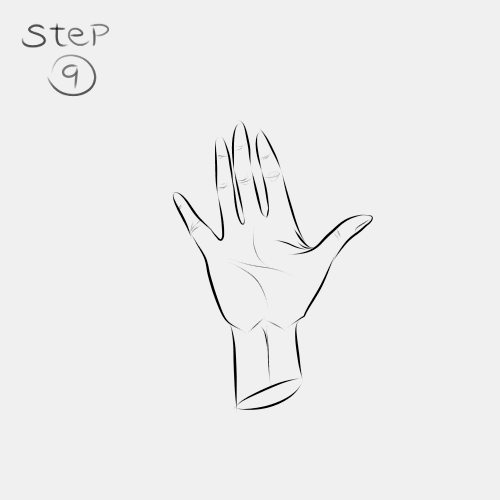 Anime Hand Palm View 9