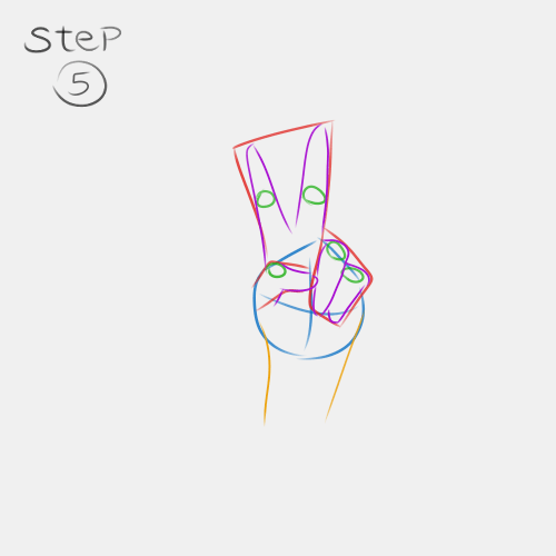 Anime Hand Peace Sign 5