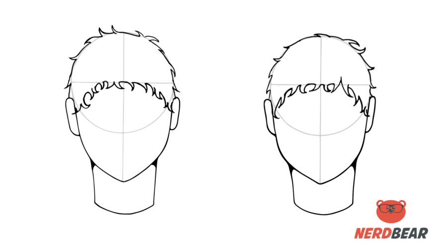 How To Draw Male Anime Hair Short 4