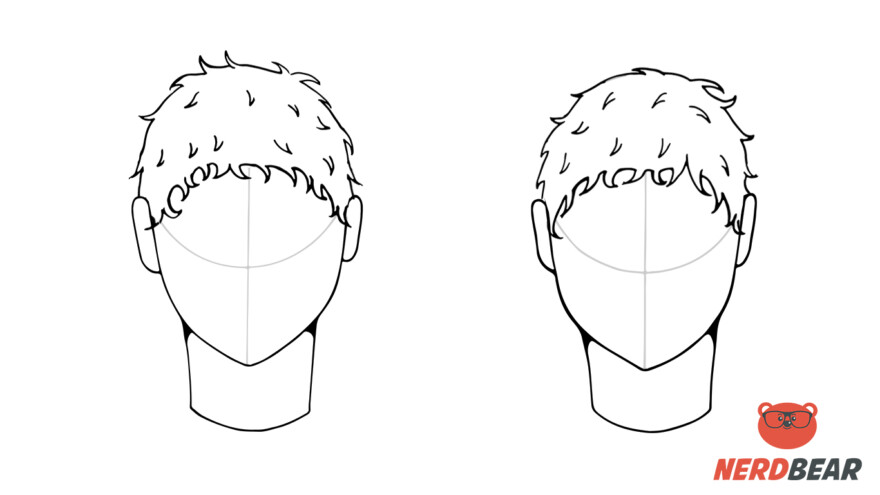 How To Draw Male Anime Hair Short 5
