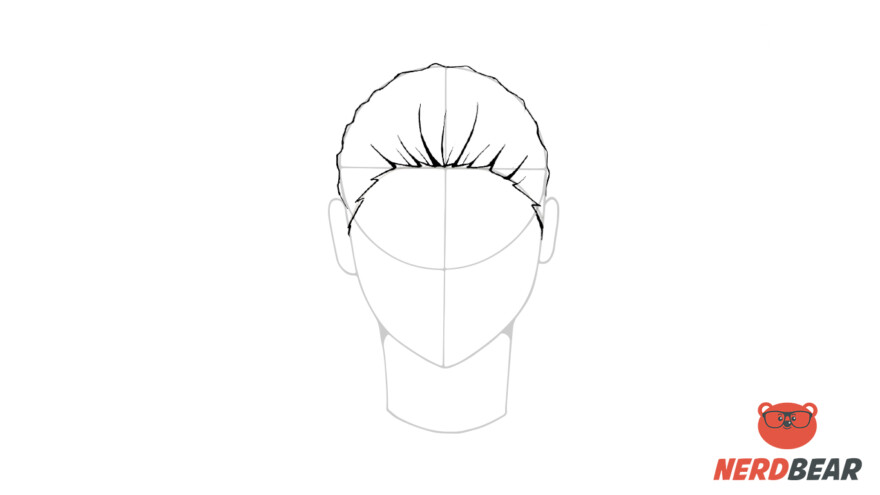 How To Draw Male Anime Hair Slicked Back 4